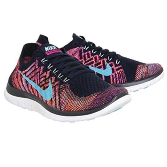 a2a143848019 Nike Free 4.0 Flyknit Navy Blue Purple Trainers. M 5b0c36443b1608114991d391